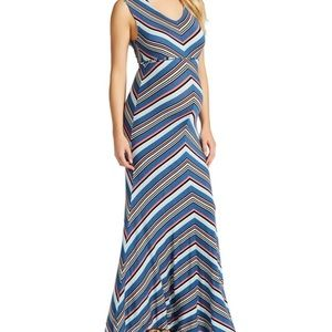 Jessica Simpson Dresses - Striped Jessica Simpson Maxi Maternity Dress